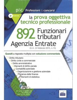 AGENZIA ENTRATE 892 FUNZIONARI TRIBUTARI