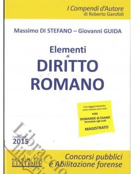ELEMENTI DI DIRITTO ROMANO 2015
