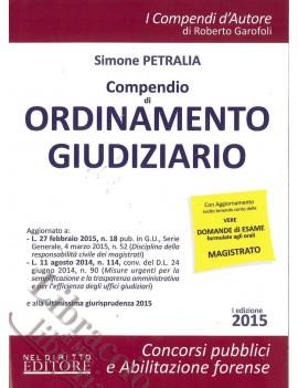 COMPENDIO DI ORDINAMENTO GIUDIZIARIO