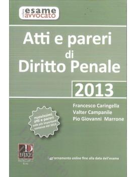 ATTI E PARERI DI DIRITTO PENALE 2013
