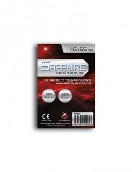CARD SLEEVES RED 43X66mm n.100