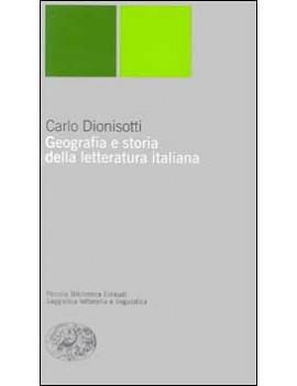 GEOGRAFIA E STORIA DELLA LETTERATURA ITA