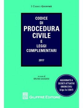 CODICE DI PROCEDURA CIVILE 2017 E LEG