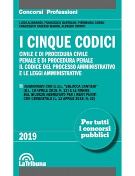 CINQUE CODICI civile penale e procedure