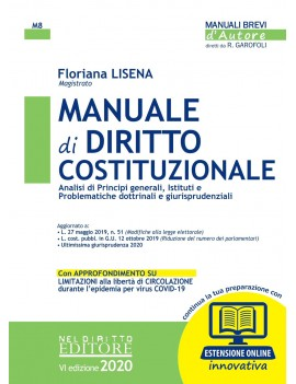 MANUALE DI DIRITTO COSTITUZIONALE 2020