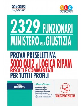 2329 FUNZIONARI MINISTERO GIUSTIZIA