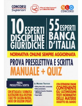10 esperti BANCA D'ITALIA discipline GIU
