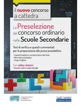 PRESELEZIONE DEL CONCORSO ORDINARIO NELL