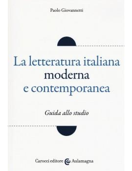 LETTERATURA ITALIANA MODERNA E CONTEMPOR
