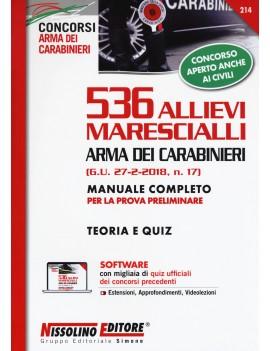 536 ALLIEVI MARESCIALLI arma carabinier