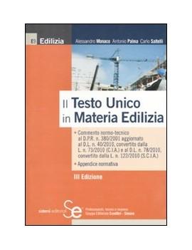 NUOVO TESTO UNICO IN MATERIA EDILIZIA (I