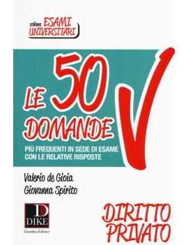 50 DOMANDE DIRITTO PRIVATO