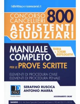 800 ASSISTENTI GIUDIZIARI manuale + quiz