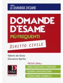 DOMANDE D'ESAME DIRITTO CIVILE