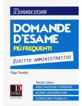 DOMANDE D'ESAME DIRITTO AMMINISTRATIVO