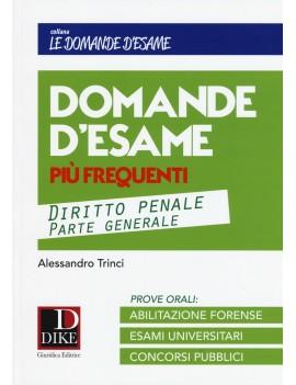 DOMANDE D'ESAME DIRITTO PENALE parte gen
