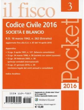 CODICE CIVILE 2016 società e bilancio