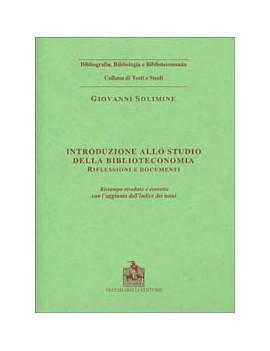 INTRODUZIONE ALLO STUDIO DELLA BIBLIOTEC