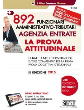 AGENZIA ENTRATE 892 FUNZIONARI AMMINISTR