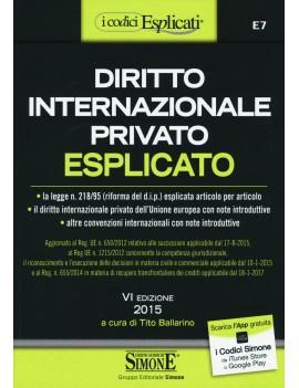 DIRITTO INTERNAZIONALE PRIVATO ESPLICATO