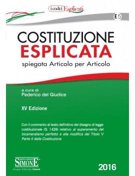 COSTITUZIONE ESPLICATA  E5  2016