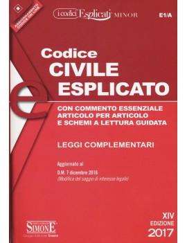 CODICE CIVILE ESPLICATO minor 2017 E1/A