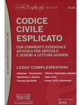 CODICE CIVILE ESPLICATO minor 2018 E1/A