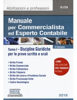 MANUALE per  COMMERCIALISTA 2018  vol 1