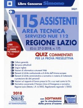 115 ASSISTENTI TAREA TECNICA REGIONE LAZ