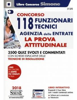118 FUNZIONARI TECNICI AGENZIA ENTRATE