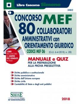 MEF 80 COLLABORATORI AMMINISTRATIVI