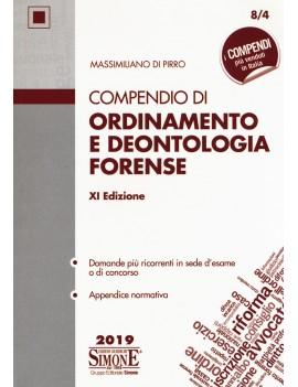 COMPENDIO DI ORDINAMENTO E DEONTOLOGI