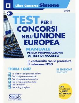 TEST CONCORSI UNION EUROPEA manuale
