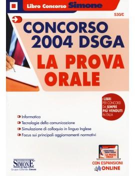 CONCORSO 2004 DSGA prova ORALE