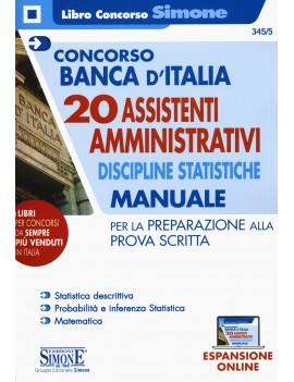 BANCA D'ITALIA 20 assistenti amministrat