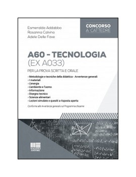 CONCORSO SCUOLA A060 TECNOLOGIE