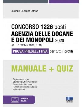 1226 POSTI AGENZIA DOGANE E MONOPOLI
