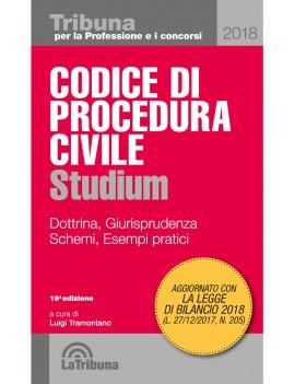 VE CODICE PROCEDURA CIVILE 2018 STUDIUM